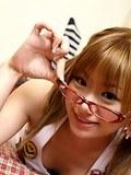 Sexy Japanese coed Iruka Sakana in glasses