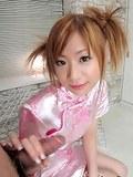 Cute Iruka in oriental dress gets hand full of sperm