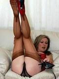 sheer fun in nylons and panties