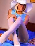Leggy Milf LilyWOW in white pantyhose