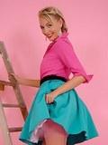 Blondie in fine stockings