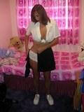 Busty MILF in her school uniform