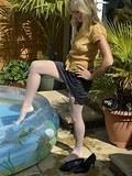 Sheer nylon in the pool
