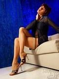 Sexiest MILF legs in original sheer vintage stockings and sandals