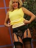 Busty Susan shows off her panties