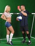 Hot blonde babe Kassey Krystal going for the semen goal!