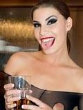 Simona loves the erotic feeling of all that sheer black nylon over her body!