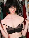 Mature milf gets horny in black panties