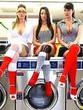 Amazing kortney kane nailed hard adjacent a washing machine hot group sex reality fucking pics
