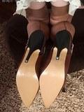 Kim being teasy in vintage nylons!