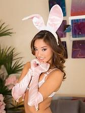 Alina Li sexy and horny bunny rabbit lingerie fucked