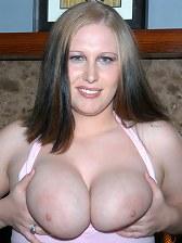 Cute big boobd amateur babe takes a nice facial here