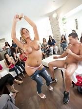 Brithday blonde loves to suck stripper cock