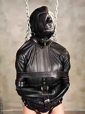 Ashley Renee Leather Bondage
