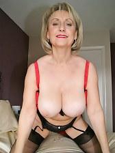 Older woman in fine stockings