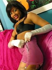 Danielle's stocking girdle striptease