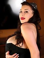 September Carrino in black corset
